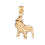 14k gold firefighter dog charm