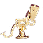 14k gold 3d dentist chair charm