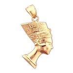 14k gold egyptian queen nefertiti charm
