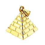 14k gold 3d egyptian pyramid charm