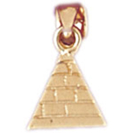 14kt gold 3d egyptian pyramid charm