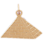 14k gold egyptian pyramid charm