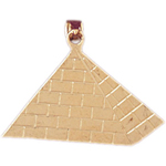 14k gold egyptian pyramid pendant