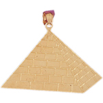 14 kt gold egyptian pyramid pendant