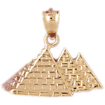 14k gold three egyptian pyramids charm