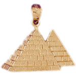 14k gold two egyptian pyramids pendant