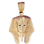 14k gold pharaoh king tut pendant