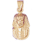 14k gold king tut charm