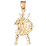 14k gold ancient warrior charm