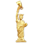 14k gold statue of liberty charm pendant