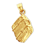 14k gold suitcase charm