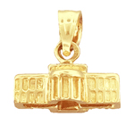14k gold 3d white house washington dc charm