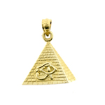 14k gold eye of horus egyptian pyramid charm