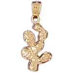 14k gold western cactus charm