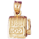 14k gold slot machine charm