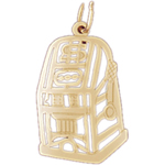 14k gold outline slot machine charm