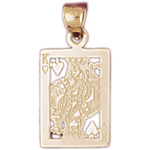 14k gold king of hearts playing card charm