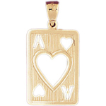 14kt gold cutout ace of hearts charm