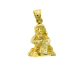 14k gold 3d santa claus with toys list charm