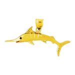14 kt gold marlin fish pendant
