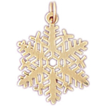 14k gold ornate snowflake charm