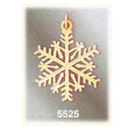 14 kt gold snowflake pendant
