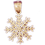 14kt gold snowflake charm