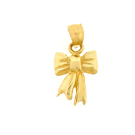 14k gold christmas ribbon charm
