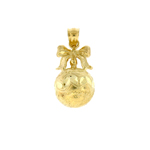 14k gold 3d christmas ornament charm