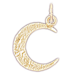 14k gold islamic crescent moon charm