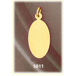 14k gold engravable 7/8