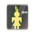 14k gold engravable silhouette girl charm