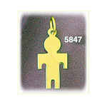14k gold engravable silhouette boy charm