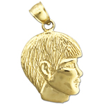 14 karat gold boy face charm