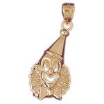 14k gold clown with bow tie charm