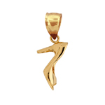 14k gold 3d high heel shoe charm