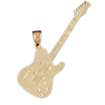 14k gold guitar pendant