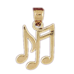14kt gold musical notes charm