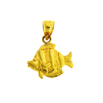 14k gold sea life angelfish charm