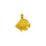 14k gold angelfish charm