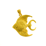14k gold freshwater angel fish pendant