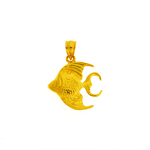 14k gold tropical angelfish pendant