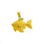 14kt gold angelfish pendant