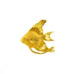 freshwater 14k gold angel fish pendant