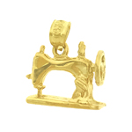 14k gold 3d sewing machine charm