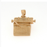 14k gold typewriter charm