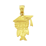 14k gold graduation owl charm