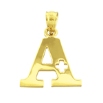 14k gold a+ charm