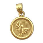 14k gold seven wishes peace charm