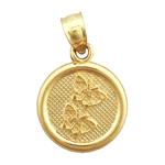 14k gold seven wishes friendship charm